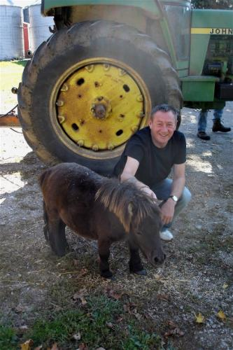 Ingersoll, Ontario, Canada - with Caper, the miniature pony