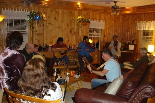 Barrington, Rhode Island - Gathering turns into a Session at Trish's house