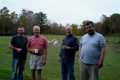 Oxford, New York - With host Dave and his llamas